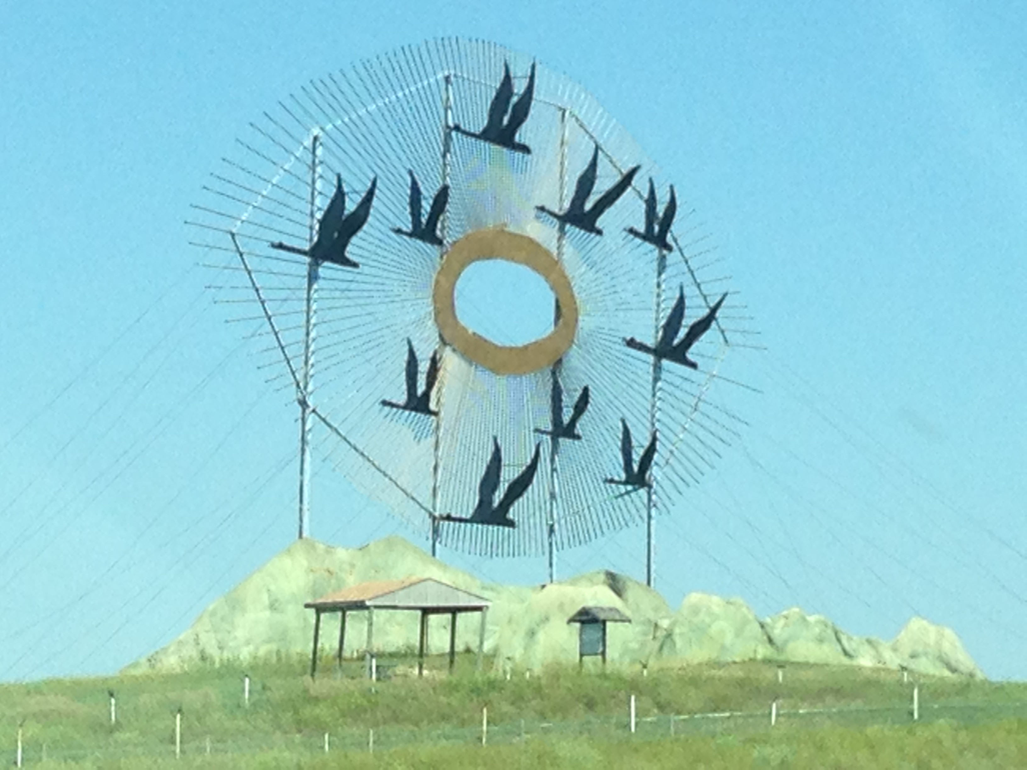 """""""Geese in Flight"""" - one of the World's Largest Metal Sculptures"""