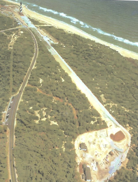 The move path of the lighthouse (photo from the National Park Service website)