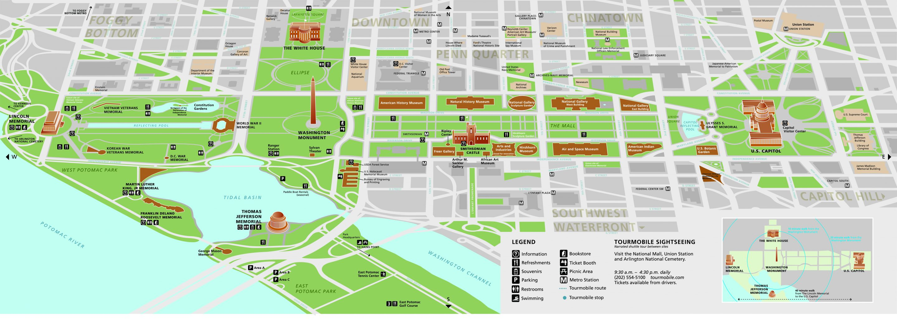 Map of the National Mall in Washington, D.C.