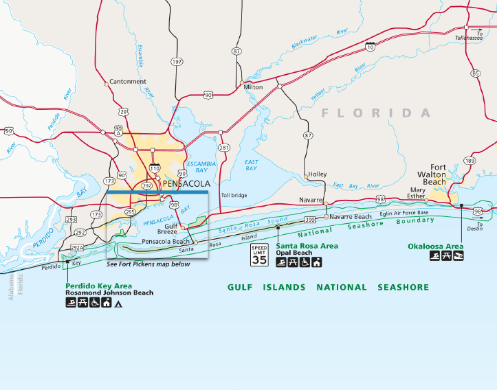 Florida Gulf Islands National Seashore Map