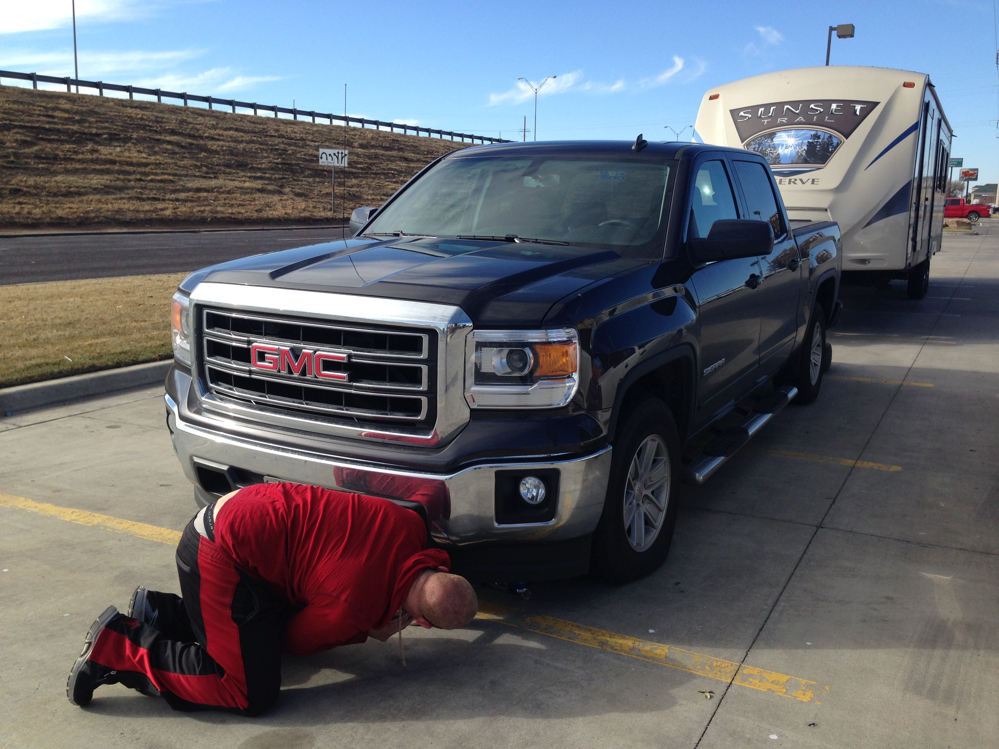 Finally getting our flat tire replaced!